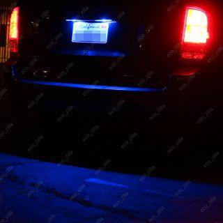 2X License Plate Number Tag Ultra Blue 12V LED Light Bulbs W5W 168