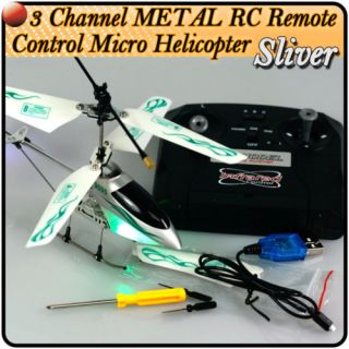 Channel METAL RC Remote Control Helicopter Silver