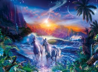 GLITTER JIGSAW PUZZLE COSMIC SERENITY CHRISTIAN RIESE LASSEN