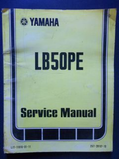 Yamaha 1978 LB50PE lb 50 PE LB50 Original Owners Service Manual