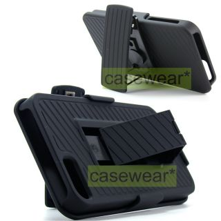 Holster Combo 2pc Rubberized Hard Case Cover for Apple iPhone 5