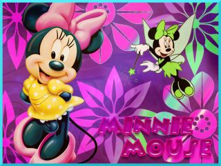 MINNIE MOUSE FROSTING SHEET EDIBLE CAKE TOPPER DECORATIONS IMAGE