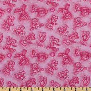 Boyds Bears Toile Pink   Discount Designer Fabric   Fabric