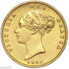 great britain 1858 queen victoria gold half sovereign from united