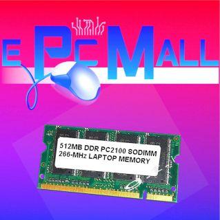 SODIMM PC 2100 266MHz Laptop Notebook Memory RAM 512 MB PC 266