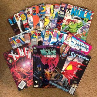Marvel DC Comics 22 Magazines Early 90s Issues x Men Batman Superman