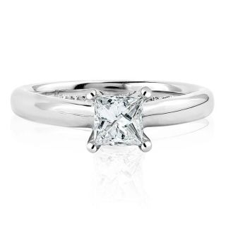 Princess Diamond Engagement 14k White Gold Ring 7 8ctw
