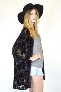 Vtg 70s Sheer Burnout Velvet Draped Oversized Hippie Boho Gypsy Top