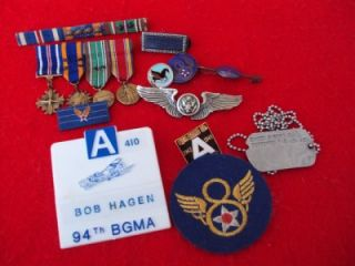 Beautiful ID WWII 8th Air Force 94th Bomb Group collection DFC