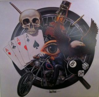 David Mann Art All The Elements Print Easyriders Harley Davidson HD H