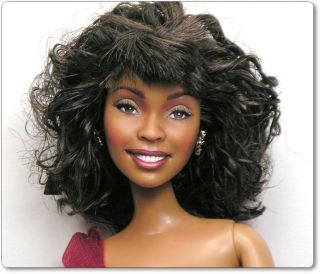 Whitney Houston OOAK Barbie Fashionista Doll Art Repaint by Artist
