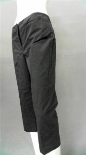 New York Ladies Womens 16 Dressy Dress Capri Pants Dark Gray