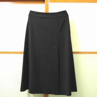 New Eileen Fisher Stretch Viscose Wool A Line Skirt