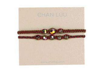 Chan Luu 2 Pack Friendship Crystal Bracelet Ruby Mix