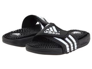 adidas Kids Adissage K Core (Toddler/Youth) Black/White