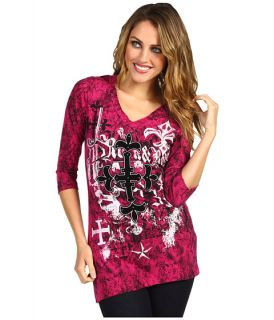 Rock and Roll Cowgirl 3/4 Sleeve Knit T Shirt