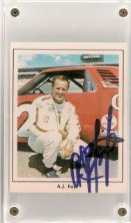RARE A J Foyt Autographed 1986 PS Stargraphics Card