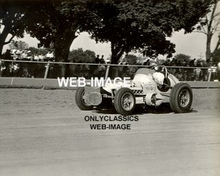 1961 A J Foyt Sprint Car Auto Racing Photo Hoosier Indy