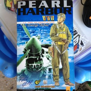 WWII US Army Air Force Pilot P 40 Lt George Taylor Pearl Harbor 12 MIB