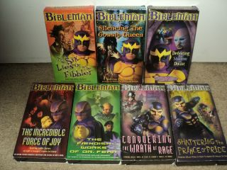 THE BIBLEMAN 1999 VHS Season 1 Episodes 3 9 Willie Aames Kids VHS Lot