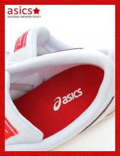 Brand New ASICS AARON CV Shoes White/Red #91