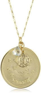 Max Jewelry Accessory Pisces Pendant Gold Plated Necklace