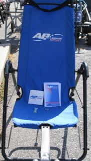 AB SPORT LOUNGE  AB EXERCISER TABLE OWNERS MANUAL AND TRAINING CD