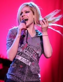 Abbey Dawn Avril Lavigne Glam Rock grey hoodie hoody size M RARE Punk