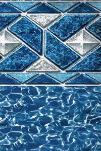 15x48 Round Beaded Full Print Swimming Pool Liner 30g