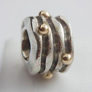 NWT Authentic Pandora Silver Line w Gold Balls 79167