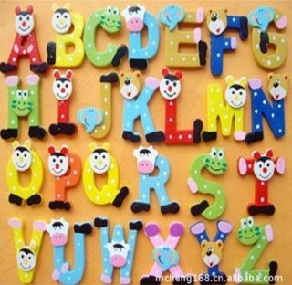 Letters Alphabet Fridge Magnet Educational Toy Baby Kids Favour Gift