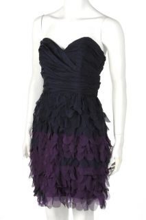 New ABS by Allen Schwartz Strapless Sweetheart Dress Dark Midnight US