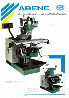 Abene Combined Vertical Horizontal Milling Machine