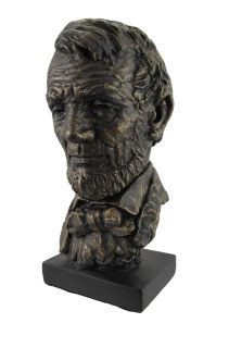 72115 bust abraham lincoln bronze statue 2C