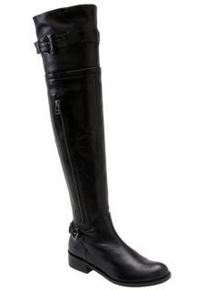 Steven by Steve Madden Sabra Black Over The Knee Boots 5 5 Leather New