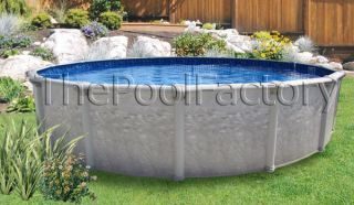 15x52 Round Above Ground Swimming Pool Package   SALE