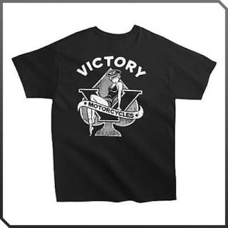 New Mens Black Victory Motorcycle Ace of Spade T Shirt Tshirt Tee
