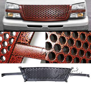 03 05 Chevy Avalanche Silverado 1500 2500 Tiger Skin Brown Grille