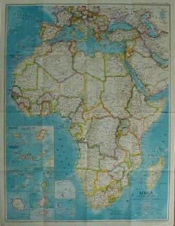 History Map Colonial AFRICA Ortelius National Geographic Society