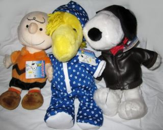 Peanuts Gang, Charlie Brown, Pajamas Woodstock, and Flying Ace Snoopy