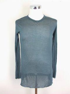 Haider Ackerman Mens Slate Blue Knit Shirt Sz 40 at Socialite