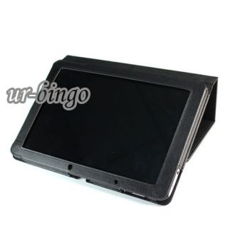 Black Slim Stand Leather Case Cover for Acer Iconia 10 1 Tablet A510