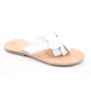 Academie Studio Bella Youth Kids Girls Size 2 White Flip Flops Sandals