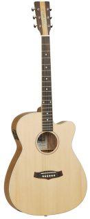 Nashville IV Super Folk Acoustic Electric Guitar Free Hard Case