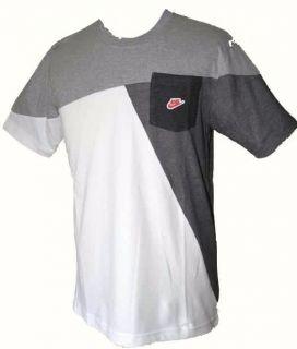 Nike New White Grey Cotton Active T Shirt Size s M L XL