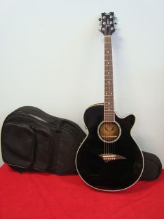 Performer Series Acoustic/Electric Guitar (Classic Black) with Case