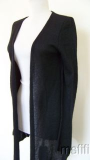 3360 $135 Acrobat Black Silk Cashmere Cardigan Sweater S