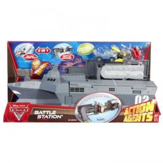 New Disney Pixar Cars 2 Action Agents Battle Station Playset Finn