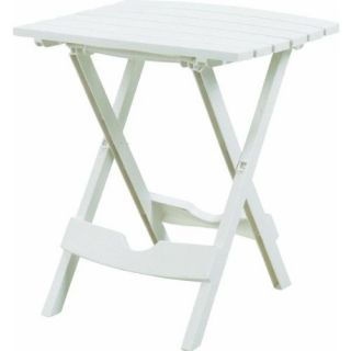 adams manufacturing small white folding table
