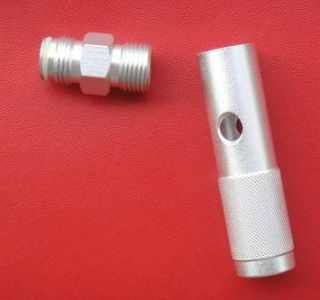 New Quick Change 12 Gram 12g CO2 Adapter Silver